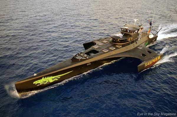 trimarán Gojira, de Sea Shepherd