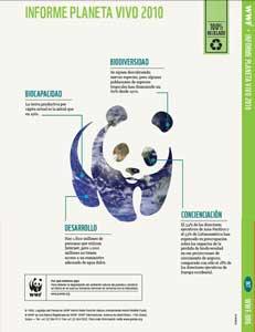 Informe Planeta Vivo de wwf, portada