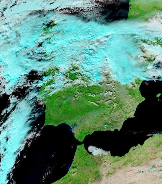 inundaciones ríos Genil y Guadalquivir, diciembre 2010, Península nasa
