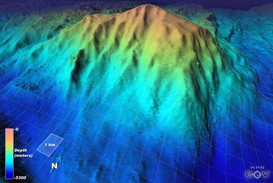 Macizo Atlántico, imagen en 3D