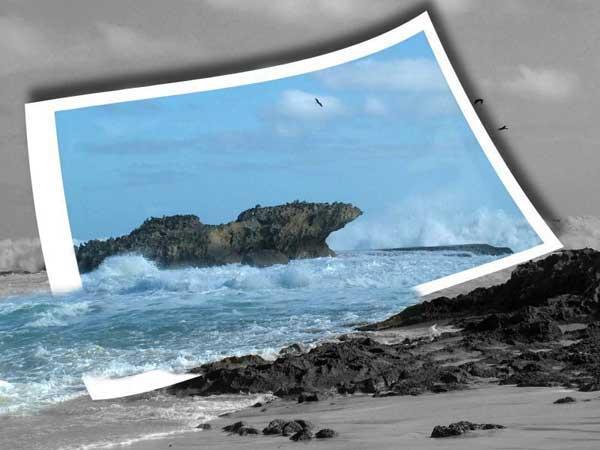 El mar se sale de la foto