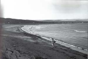 Peñíscola, playa norte, placeta de bous, años 40
