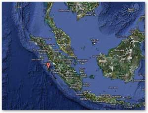 predicción lugar de tsunami en Sumatra