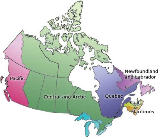 región pesquera de Terranova y El Labrador en Canadá