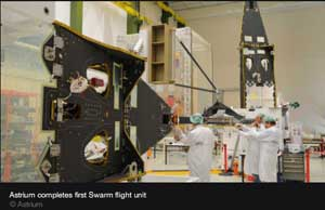 satélite Swarm, montaje