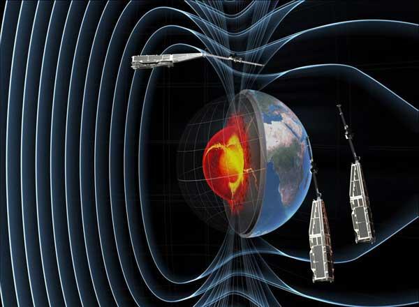 Los tres satélites swarm