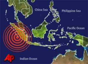terremoto y tsunami en Sumatra, octubre de 2010
