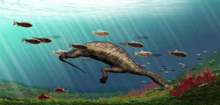Atopodentatus unicus el primer reptil marino herbívoro