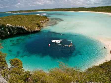 Agujero Azul de Dean, Bahamas