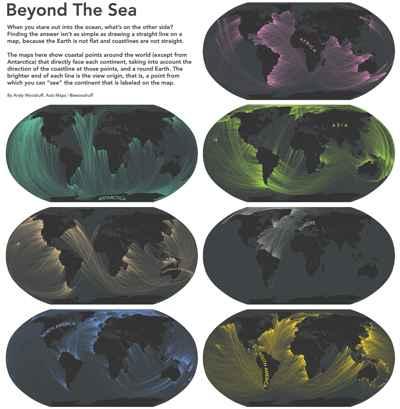 Beyond the Sea, mapas de líneas