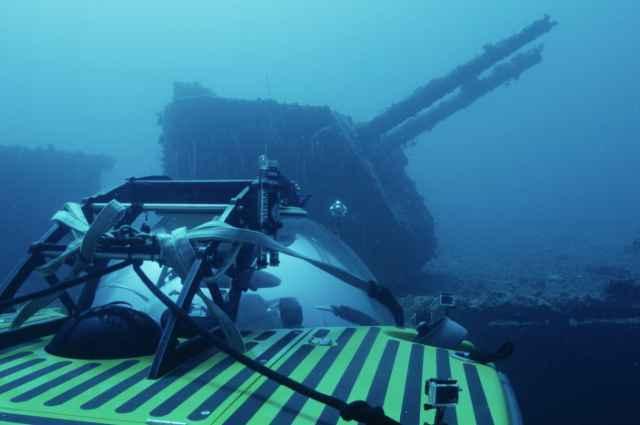 buque de guerra fantasma hundido en el atolón Bikini