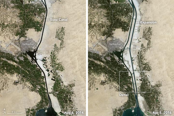 canal de Suez desde satélite