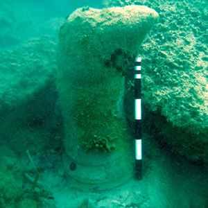 columna en la isla de Zakynthos