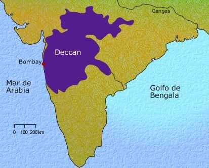 meseta de Deccan, India