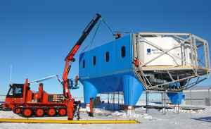 montaje de la Halley Research Station