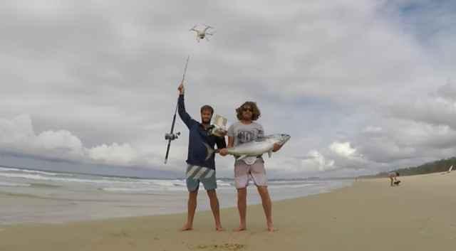 pesca de atún con un drone