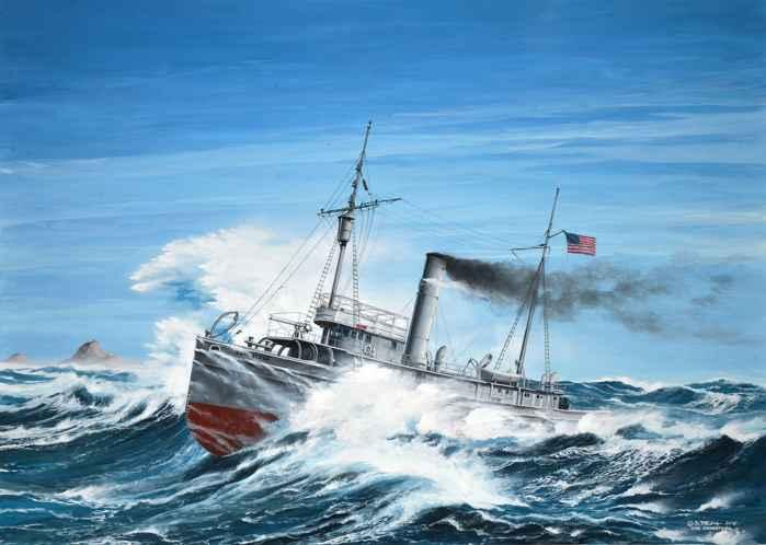 recreación artística del USS Conestoga