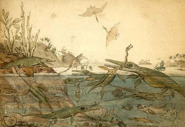 reptiles marinos del Mesozoico