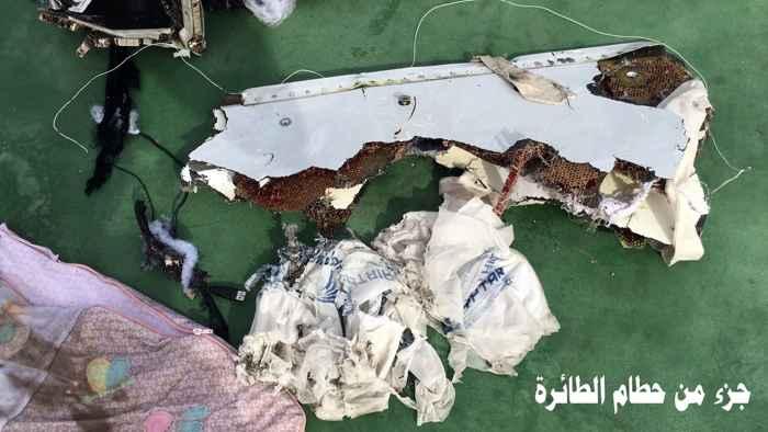 trozos del fuselaje del vuelo MS804 de EgyptAir