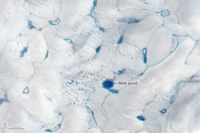deshielo de la capa de hielo de Groenlandia en junio de 2016
