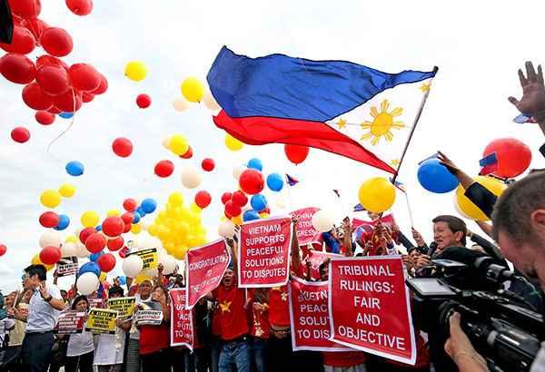 celebración en Filipinas del fallo del Tribunal de la Haya