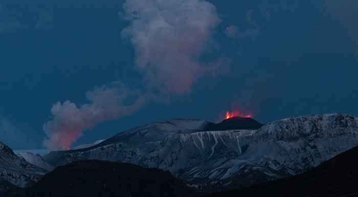 erupción del volcán Eyjafjallajokull