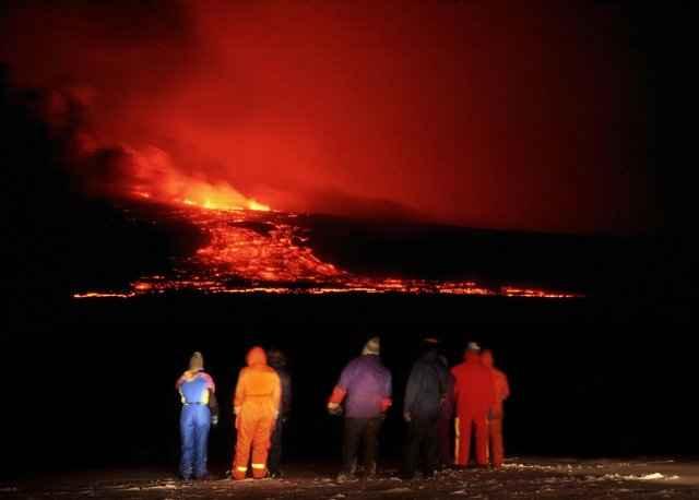 erupción del volcán Hekla, Islandia