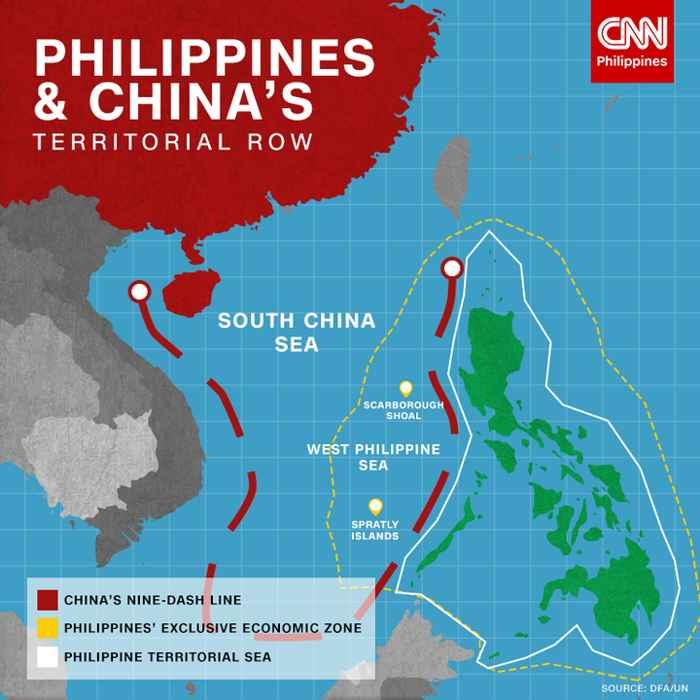 zonas en disputa en el Mar del Sur de China