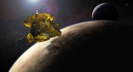 Plutón y la sonda New Horizons de la NASA