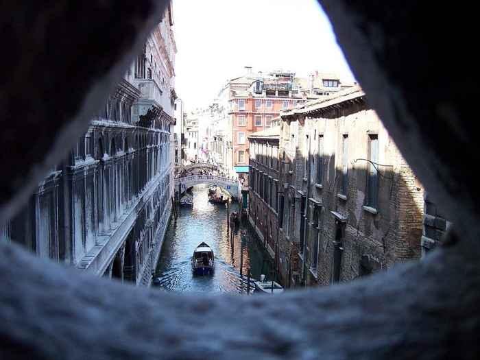 Puente de los Suspiros, Venecia - vista desde una ventana