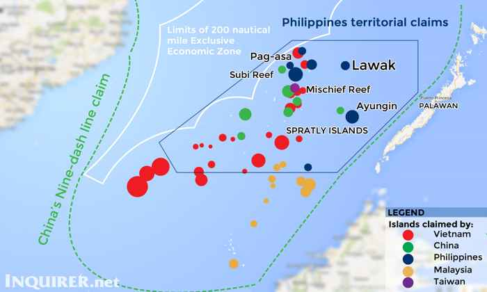 reclamaciones territoriales de Filipinas y socios de la ASEAN