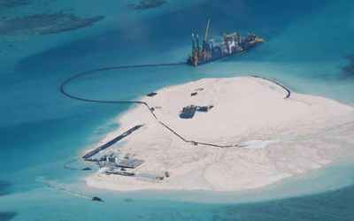 recuperación de arrecifes por China