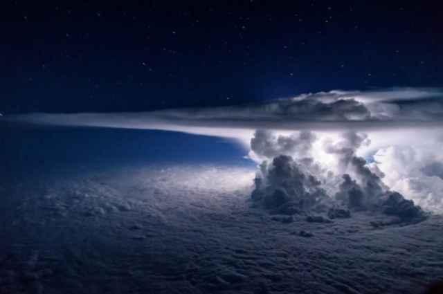 tormenta en el Océano Pácifico sobre Panamá