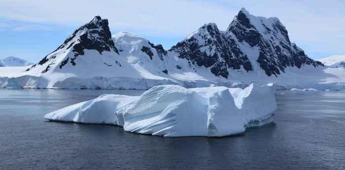 una vista de la Antártida