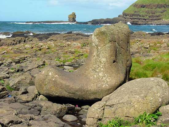 calcetín del gigante, costa Irlanda