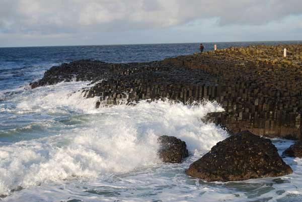 Calzada de los Gigantes, costa de Irlanda