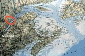 estuario río St. Lawrence, Canadá