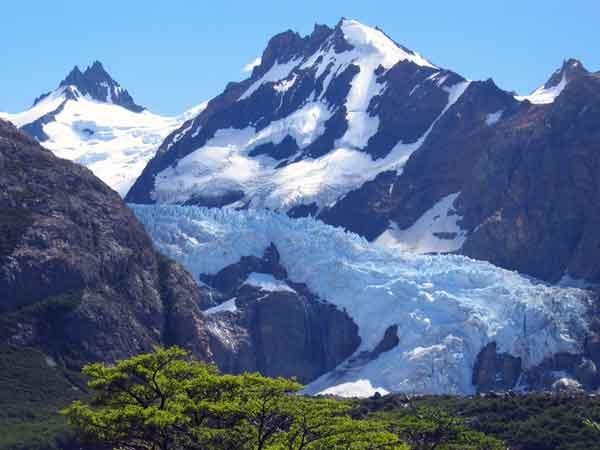 glaciar de montaña Fitz Roy