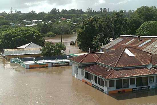 inundaciones en Ipswich, Australia enero 2011