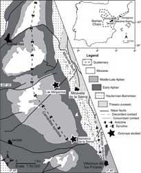 Las Mingachas, mapa geológico