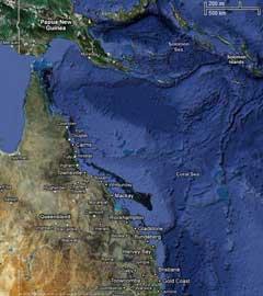 mapa de Australia del Este (Queensland)