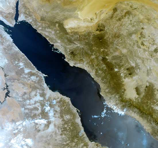 mar rojo, foto satélite ESA