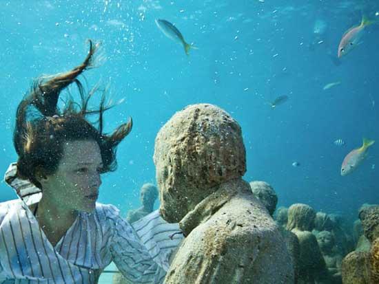 museo submarino de esculturas humanas, Cancún México, cara a cara