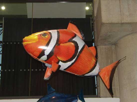 Globo de helio de pez payaso volador