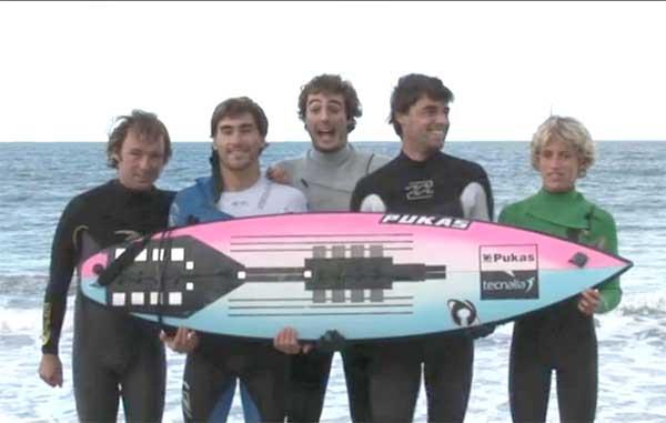 presentación tabla de surf inteligente, Pukas