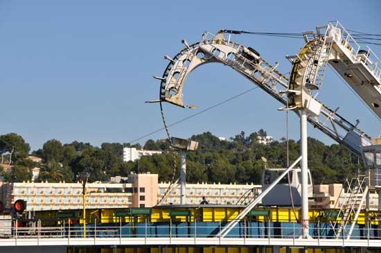 aparatos para el tendido de cables electricos en un barco