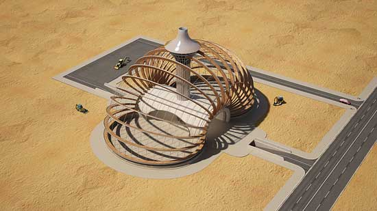 The Ark (El Arca) despliege prefabricado