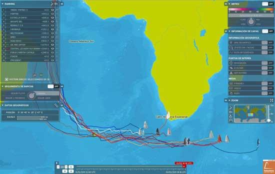 tracker Barcelona World Race