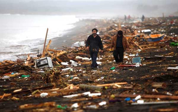 tsunami 2010 en Chile, Pelluhue