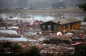 tsunami 2010 en Pelluhue, Chile